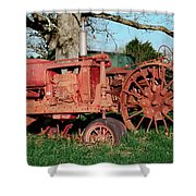 Old Rusty Tractors Shower Curtain