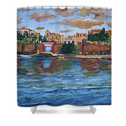 Old San Juan Gate, 4x6 In. Original Is Sold Shower Curtain