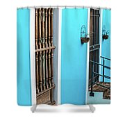 Old San Juan House In Historic Street In Puerto Rico Shower Curtain