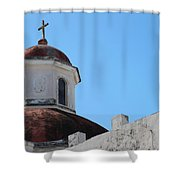 Old San Juan Puerto Rico Downtown Church Shower Curtain