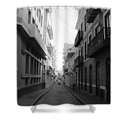 Old San Juan Puerto Rico Downtown On The Street Shower Curtain