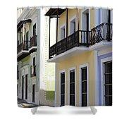 Old San Juan Puerto Rico Downtown  Shower Curtain