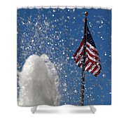 Old San Juan Puerto Rico Old Glory Shower Curtain