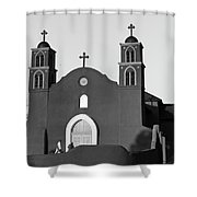 Old San Miguel Mission, Socorro, New Mexico, March 12, 2017 Shower Curtain