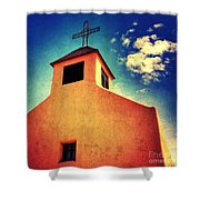 Old Santa Fe Church Shower Curtain