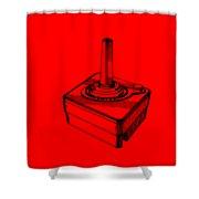 Old School Atari Video Game Controller T-shirt Shower Curtain