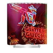 Old School Vegas Shower Curtain