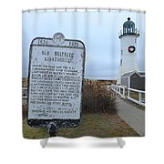 Old Scituate Lighthouse Shower Curtain