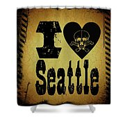Old Seattle Shower Curtain