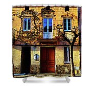 Old Semidetached Houses Shower Curtain