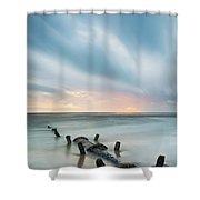 Old Sewage Pipe - Blackpool Shower Curtain