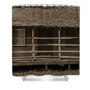Old Shack In Sepia Shower Curtain