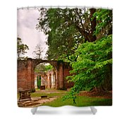 Old Sheldon Church Ruins 3 Shower Curtain