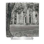 Old Sheldon Church Ruins Shower Curtain