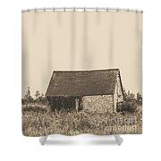 Old Shingled Farm Shack Shower Curtain