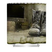 Old Shoes Shower Curtain