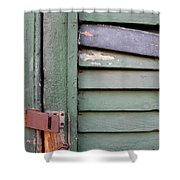 Old Shutters French Quarter Shower Curtain