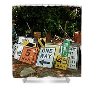 Old Sign Shower Curtain