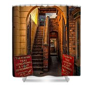 Old Signs Shower Curtain by Adrian Evans