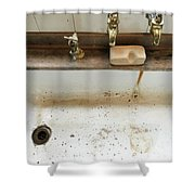 Old Sink Shower Curtain