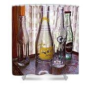 Old Soda Bottles Shower Curtain