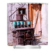 Old Soldier Shower Curtain by William Dey