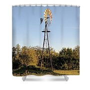 Old Southern Windmill Shower Curtain
