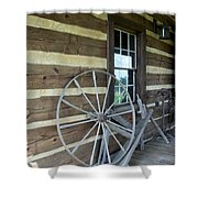 Old Spinning Wheel Shower Curtain