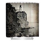 Old Split Rock Lighthouse Shower Curtain