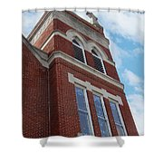 Old St Pete Steeple Shower Curtain