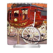Old Stagecoach - Wells Fargo Inc. Shower Curtain