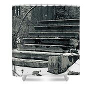 Old Stairs To Nowhere Shower Curtain