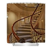 Old State House Spiral Staircase Shower Curtain