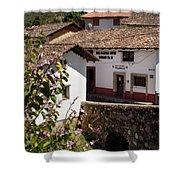 Old Stone Bridge In Historic Hillside Village Of San Sebastian D Shower Curtain