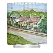 Old Stone Buildings Shower Curtain