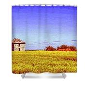 Old Stone Farmhouse Tuscany Shower Curtain