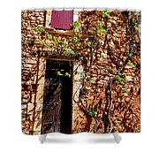 Old Stone House In Provence Shower Curtain
