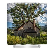 Old Stone Ranch Structure Shower Curtain