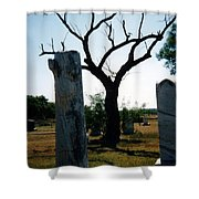 Old Stones In Old Cementery Shower Curtain