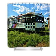 Old Street Car In Upstate New York Shower Curtain