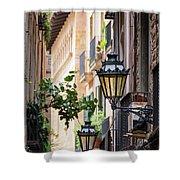 Old Street Light In Barcelona, Spain Shower Curtain