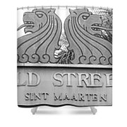 Old Street Sint Maarten In Sepia Shower Curtain