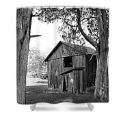 Old Structures Shower Curtain