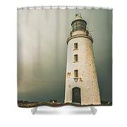 Old Style Australian Lighthouse Shower Curtain