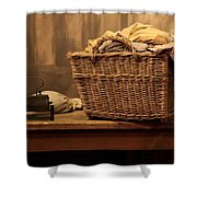 Old Style Laundry Shower Curtain