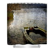Old Sunken Boat. Shower Curtain