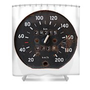 Old Tachometer Shower Curtain