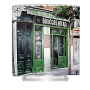 Old Tavern-madrid Shower Curtain by Tomas Castano