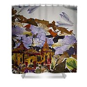 Old Temples Shower Curtain