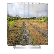 Old Texas Roads Shower Curtain